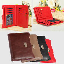 Women Soft Leather Clutch Wallet Bifold Card Holder Zip Purse Handbag Checkbook