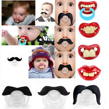Baby Funny Dummy Prank Pacifier Novelty Teeth Children Child Soother Nipple M9