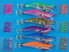 LED SQUID JIGS QTY 6 CHOOSE YOUR COLOUR SIZE 2.5 BATT NIGHT FISHING LURE TACKLE