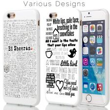Ed Sheeran Fan Art Lyrics TPU Cover Case for iPhone Range