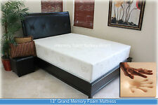 "13"" grand gel comfort memory foam mattress king size w/ airflow + free shipping"