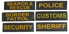 "Velcro ID Patches for service dog harness Size - 2"" x 7"" - SET OF 2"