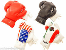 Pair of 16oz Boxing Gloves for Ages 18+ Adults Mens (USA Mexico Red Black) NEW