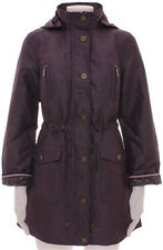 NEW~M&S Per Una wax look parka/raincoat~Purple/brown/grey~8 10 12 14 16 18 20 22