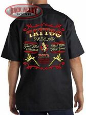 TATTOO PARLOR Mechanics DICKIES Work Shirt ~ Good Work Ain't Cheap Tats INK SHOP