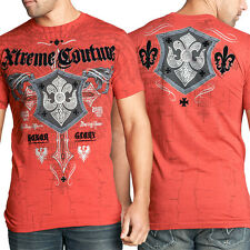 Xtreme Couture Eradicate Fleur Shield Medieval UFC MMA Mens T-Shirt in Red NWT