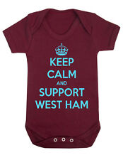 Keep Calm Support West Ham Football fan Shower Body Suit,infant,Gift Newborn Dad