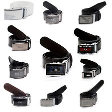 Men's Leather Belt with Automatic Clip|Dressy and Casual Styles |AX|BOSS|Eagle|