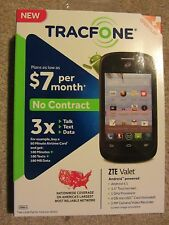 New Prepaid Cell Phone Smartphone  Android ZTE Valet w/ Triple Minutes Tracfone