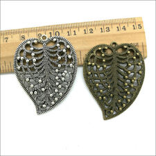 2/10/30/50 ancient  Jewelry Making DIY big leaves alloy charms pendant 47x37mm