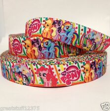 "GROSGRAIN PRINTED RIBBON 7/8"" Little Pony with Dots 1, 3, 5, 10, 20 Yards BULK"