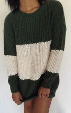 Urban Outfitters BDG Sweater Stripe Hunter Green/Ivory Size XS,S,M NWT $79