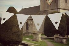 CUORE BIANCO VINTAGE WEDDING Bunting Talking Tables qualcosa nell' aria Bunting