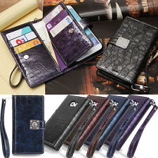 Sapphire Blue Wallet Case for Samsung Galaxy Note Edge N915 Note4 Note3 Note2