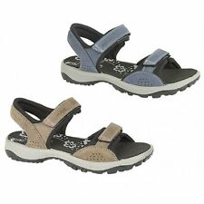 IMAC Womens Ladies Velcro Nubuck Lined Cushioned Comfort Open Toe Sports Sandals