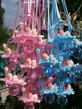 Pacifier Necklaces Small Plastic Baby Shower Game Favors Prizes bottle Pink,Blue