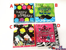 Birthday Theme Party 3 Ply Napkins/Serviettes 4 Party Themes NP8471