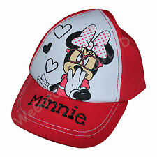 Official Licensed Girls Disney Minnie Mouse Baseball Caps Age 1-8 Years Cap Hat