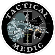 Tactical Medic Star of Life Reflective Decal Sticker SWAT EMS Paramedic Police
