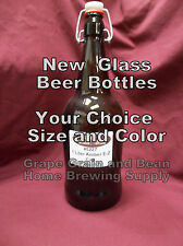 Beer Bottles, New Beer Bottles. Your Choice in Size and Color.Glass Beer Bottles