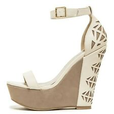 NEW Women's Nude Lilly Wedges Shoes Heels
