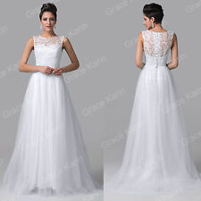 Long Lace&Tulle Wedding Dress Evening Cocktail Party Prom Gown Bridesmaid Dress