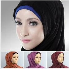 Premium Jersey Plain Basic Maxi Stretch Wrap Shawl Head Scarf Hijab 60x180cm