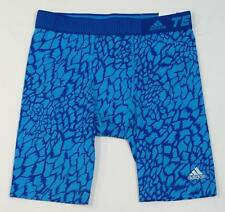Adidas ClimaLite TechFit ST Survival Blue Compression Base Layer Shorts Mens NWT