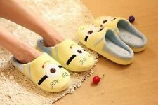 Unisex Cute Despicable Me Minions Soft Plush Indoor Slipper for Home