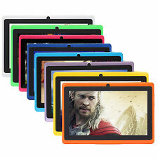 "iRULU Tablet PC New 7"" 16GB Google Android 4.4 Quad Core Dual Camera Multi-Color"