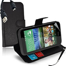 Wallet Money Card Leather Case Cover For HTC Desire 320 + SP & Stylus & Cable