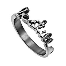 Be Still Psalm 46:10 Ring Stainless Steel, Religious Christian Faith Bible Verse