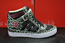 ADIDAS FORUM UP HI WOMENS LADIES HIGH TOP LEOPARD PRINT BLACK M22267 HEEL WEDGE