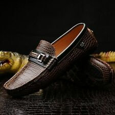 Mens Casual Loafer Genuine Leather Slip On Sneakers Driving Shoes Moccasins