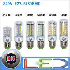 Lampadina LED E27 220v SMD5730 lamp light corn bulb 24 36 48 56 69 72led