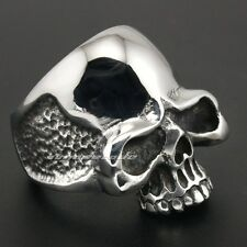 Rock & Punk 316L Stainless Steel Huge Skull Mens Biker Rocker Ring 3R001A