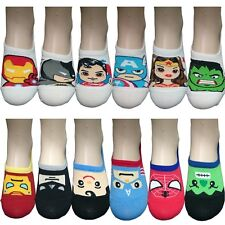 1 Pair Womens Ankle Socks Superhero Nonslip Invisible No Show Low Cut Loafer