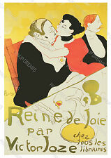 Vintage Toulouse Poster Wall Art Print Queen of Joy by Victor Joze various sizes
