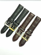 Leather Watch Straps - Crocodile Grain - Premium Quality - 18mm or 20mm