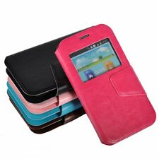 Flip Leather Case Cover Protector Anti-scratch Suction Cup for Smart Cell Phone