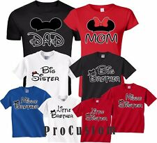 Mom And Dad And Family Mickey Head Disney funny cute  Customized T-Shirts