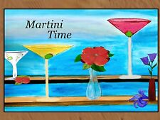 Martini Time Bar Floormat  20 ounce loop style from Original Art