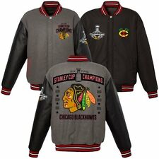 Chicago Blackhawks 2015 6 Time Stanley Cup Champions Wool Reversible Jacket