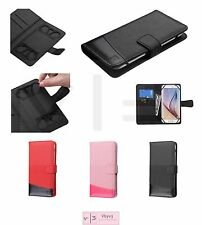 """Universal Cell Phone Cover Leather Flip Wallet Case Pouch Folio Size 4.7""""- 5.2"""""""