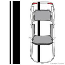 Single Offset Rally Racing Stripes For Any Car or Truck 3M Stripe Decals