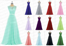 STOCK New Lace Bridesmaid Chiffon Formal Prom Party Ball Evening Dress Size 6-20