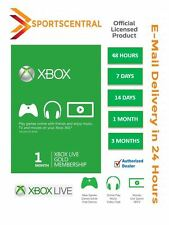 Xbox LIVE Gold Membership 2 7 14 days 1 3 Month for Microsoft Xbox 360/XBOX ONE