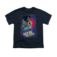 Elvis Presley On Tour Poster Youth T-Shirt (Ages 8-12)