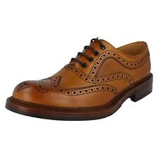 Mens Loake Formal Leather Brogue Shoes Fitting G Edward