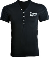 Mens Y Neck Fitted T Shirt Short Sleeve T-shirt S M L XL